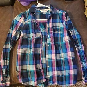 Plaid shirt multicolored